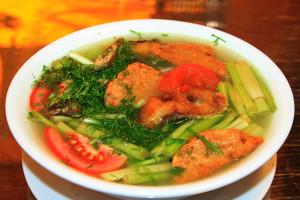 Món bún chả cá Nha Trang