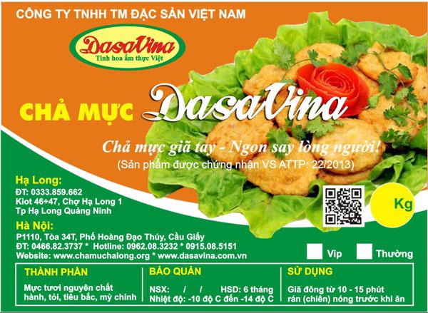 Chả mực DASAVINA là thương hiệu số 1 cung cấp chả mực Hạ Long